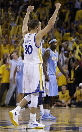 Curry leads Warriors past Nuggets in Game 3