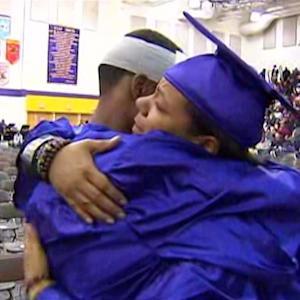Mother Dons Graduation Cap And Gown For Her Deceased Son