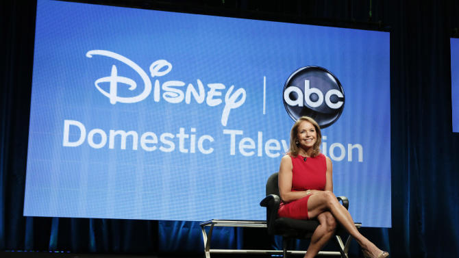 """Katie Couric attends the Disney ABC panel for """"Katie"""" at the Beverly Hilton Hotel on Thursday, July 26, 2012, in Beverly Hills, Calif. (Photo by Todd Williamson/Invision/AP)"""