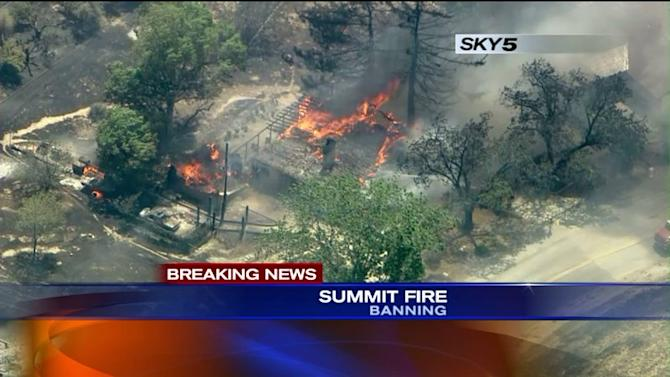 Out of Control Wildfire Burning Destroys Home, Evacuations Underway