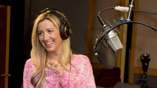 """In this undated image released by The Hub, actress Ashley Tisdale appears at a recording session for the new animated series """"Sabrina: Secrets of a Teenage Witch."""" The Hub TV series that debuts 9 a.m. EDT Saturday. (AP Photo/The Hub, Lisa Rose)"""