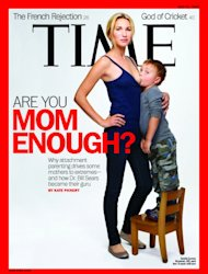 Jamie Grumet appears with almost 4-year-old son, Aram, appears on the cover Time magazine's May 31, 2012 issue -- Time Magazine