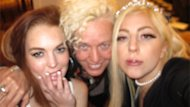 Lady Gaga Shares Lindsay Lohan Sleepover Pics