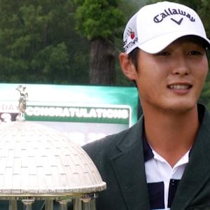 Danny Lee interview after winning The Greenbrier Classic