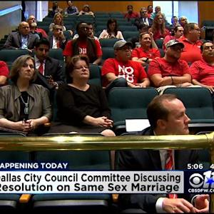 Dallas City Council To Discuss Gay Marriage Resolution