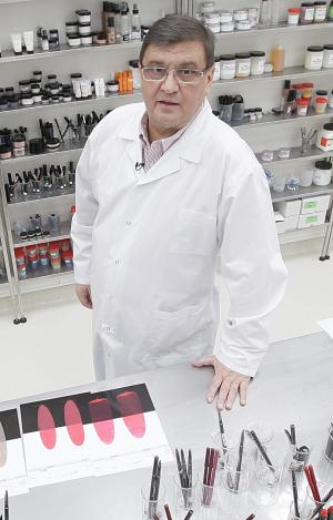 Photo taken in Przemysl, Poland, Thursday, Feb. 14, 2013.   Wojciech Inglot, a Polish chemist and businessman who founded and ran a cosmetics company, Inglot, which grew into an international success with nearly 400 stores in 50 countries, has died. A longtime friend of Inglot's, Mariusz Ziomecki told The Associated Press that Inglot died unexpectedly Saturday after suffering internal hemorrhaging. He was rushed to a hospital in Przemysl, the eastern Polish city where he ran a factory that produced his cosmetics, but doctors were unable to save him. Inglot cosmetics are sold in stores and malls worldwide, including Macy's in New York.(AP Photo/Czarek Sokolowski)