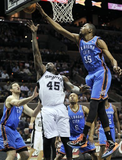 Splitter helps Spurs beat Thunder 105-93