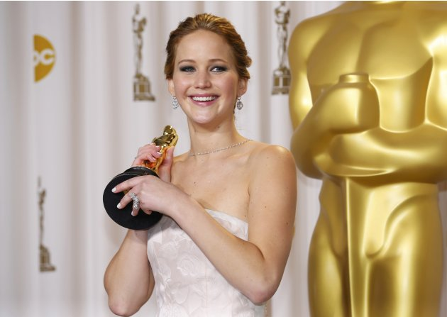 Jennifer Lawrence, best actress winner for her role in