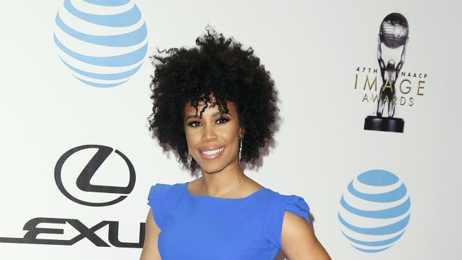 Eunique Jones Gibson arrives at the 47th NAACP Image Awards in Pasadena