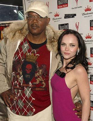Samuel L. Jackson and Christina Ricci at the New York premiere of Paramount Vantage' Black Snake Moan