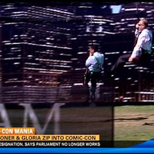 Faulconer, Gloria zip into Comic-Con