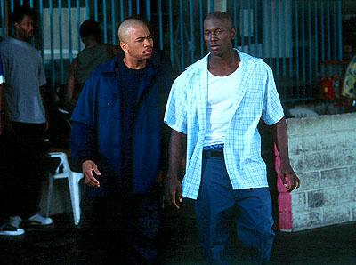 Omar Gooding and Tyrese Gibson in Columbia's Baby Boy