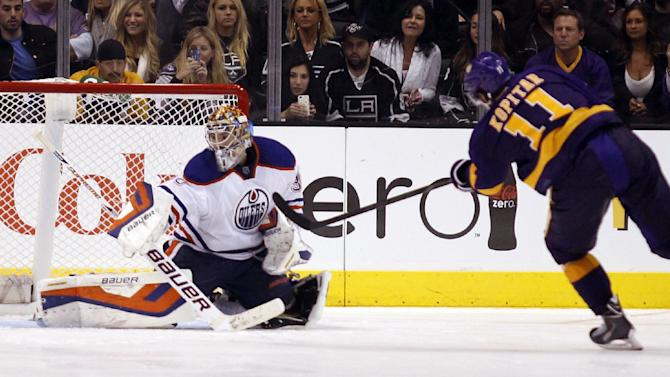 Kings beat Oilers 2-1 in shootout