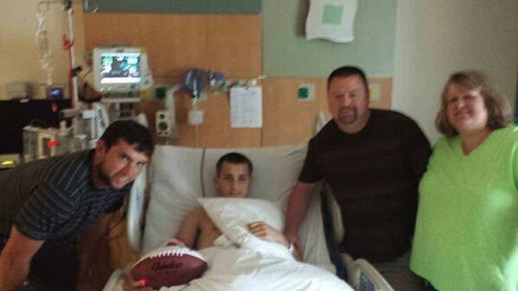 Andrew Luck's visit to an injured Indiana football player made a big impact — Twitter