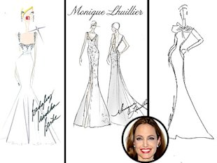 Angelina Jolie&amp;#39;s Wedding Gown: Badgley Mischka, Monique Lhuillier and Reem Acra Sketch Their Dream Dress