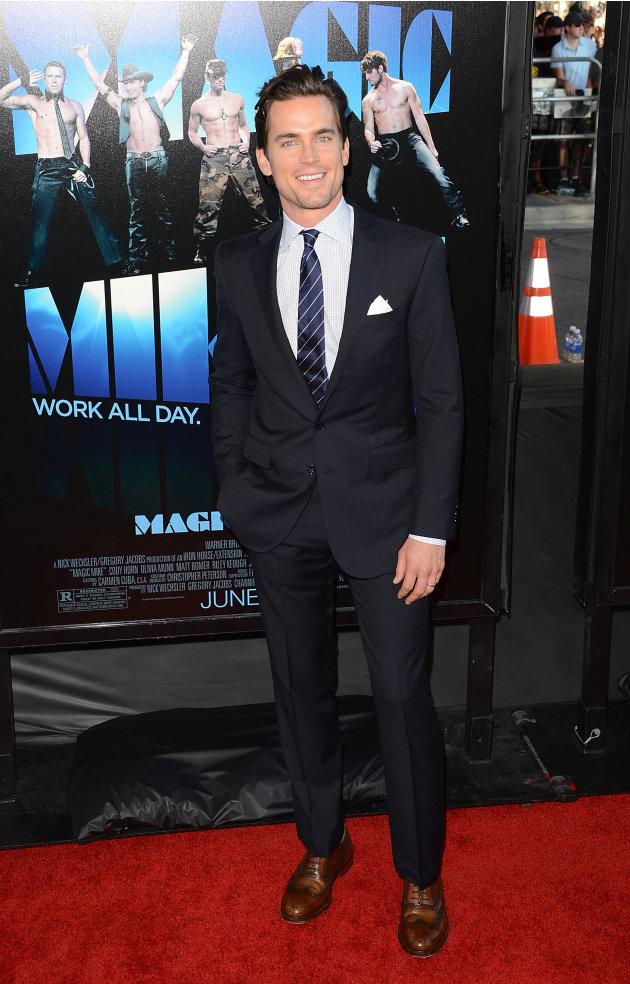 """Matt Bomer at the LA Film Festival """"Magic Mike"""" premiere."""