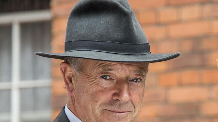 "This image released by PBS shows Michael Kitchen from the series ""Foyle's War,"" on ""MASTERPIECE Mystery!"" Precision is Kitchen's hallmark, such as the level gaze or tilt of the head he uses to great effect in ""Foyle's War,"" which wraps its latest PBS season on Sunday. (AP Photo/PBS- ITV, Bernard Walsh)"
