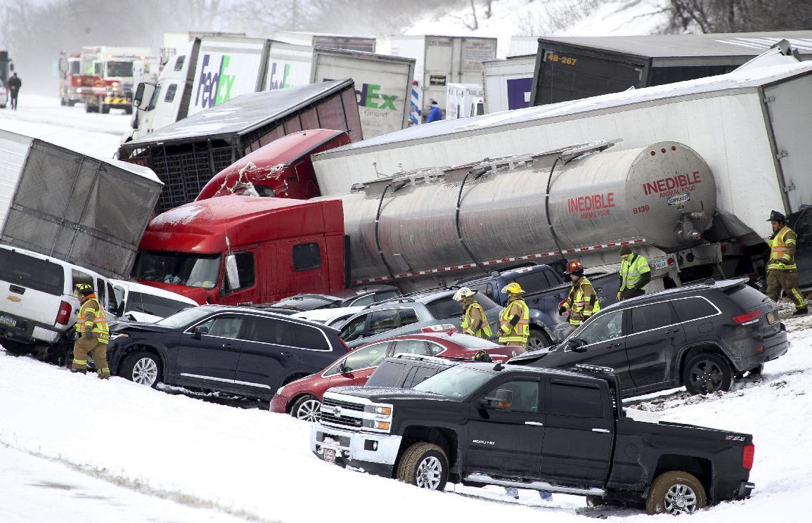 Police: 3 killed, scores to hospitals after huge I-78 pileup