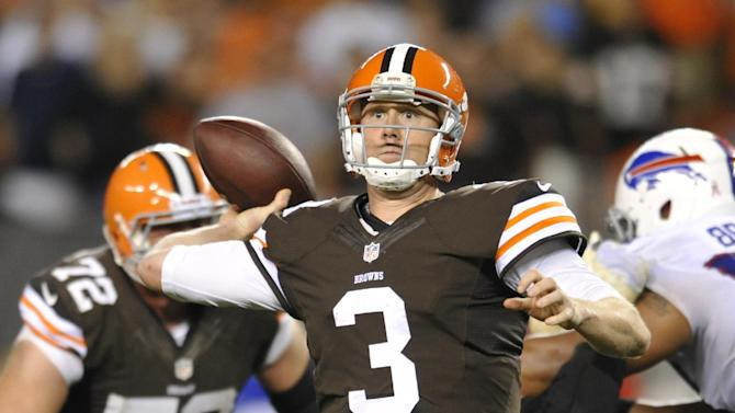 Browns QB Weeden getting second chance to impress