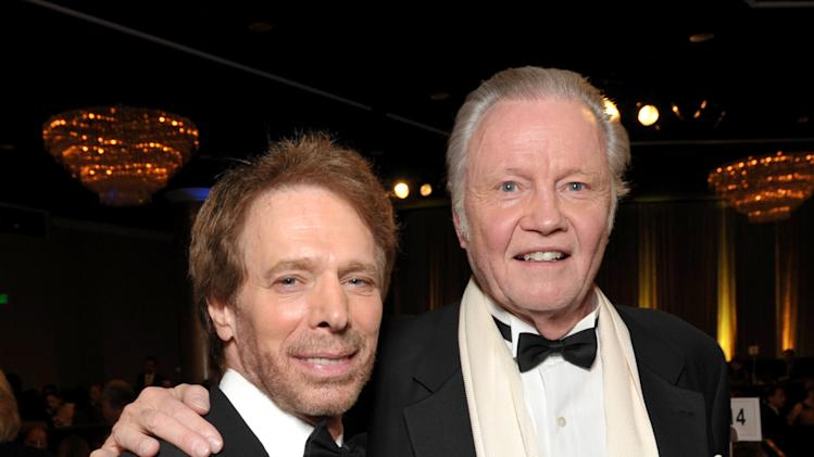 Jerry Bruckheimer, left, and Jon Voight attend the presentation of the 27th Annual American Cinematheque Award to Jerry Bruckheimer on Thursday, Dec. 12, 2013, in Beverly Hills, Calif. (Photo by John Shearer/Invision for American Cinematheque/AP Images)