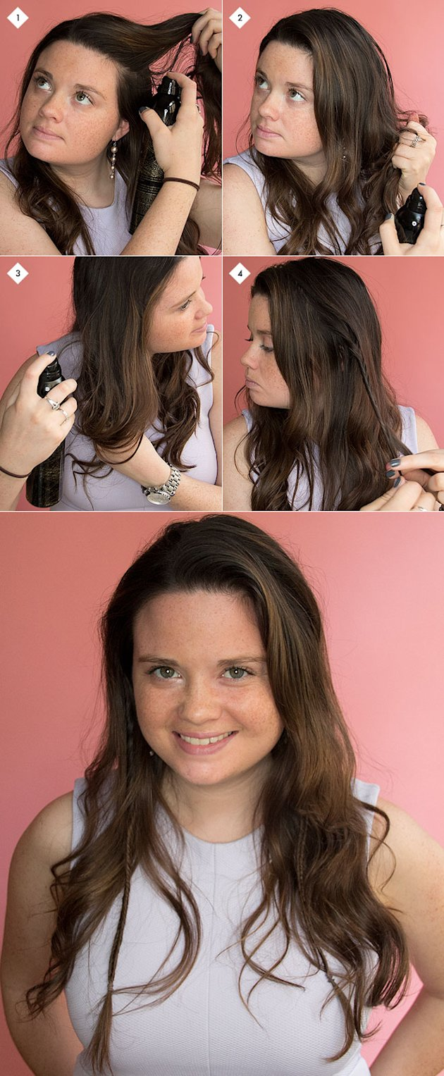Step 1: Starting with light waves or tousled hair, apply a texturizing ...