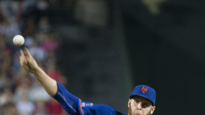 New York Mets starting pitcher Zack Wheeler (45) works in the first inning of a baseball game against the Atlanta Braves Friday, Sept. 19, 2014, in Atlanta. (AP Photo/John Bazemore)
