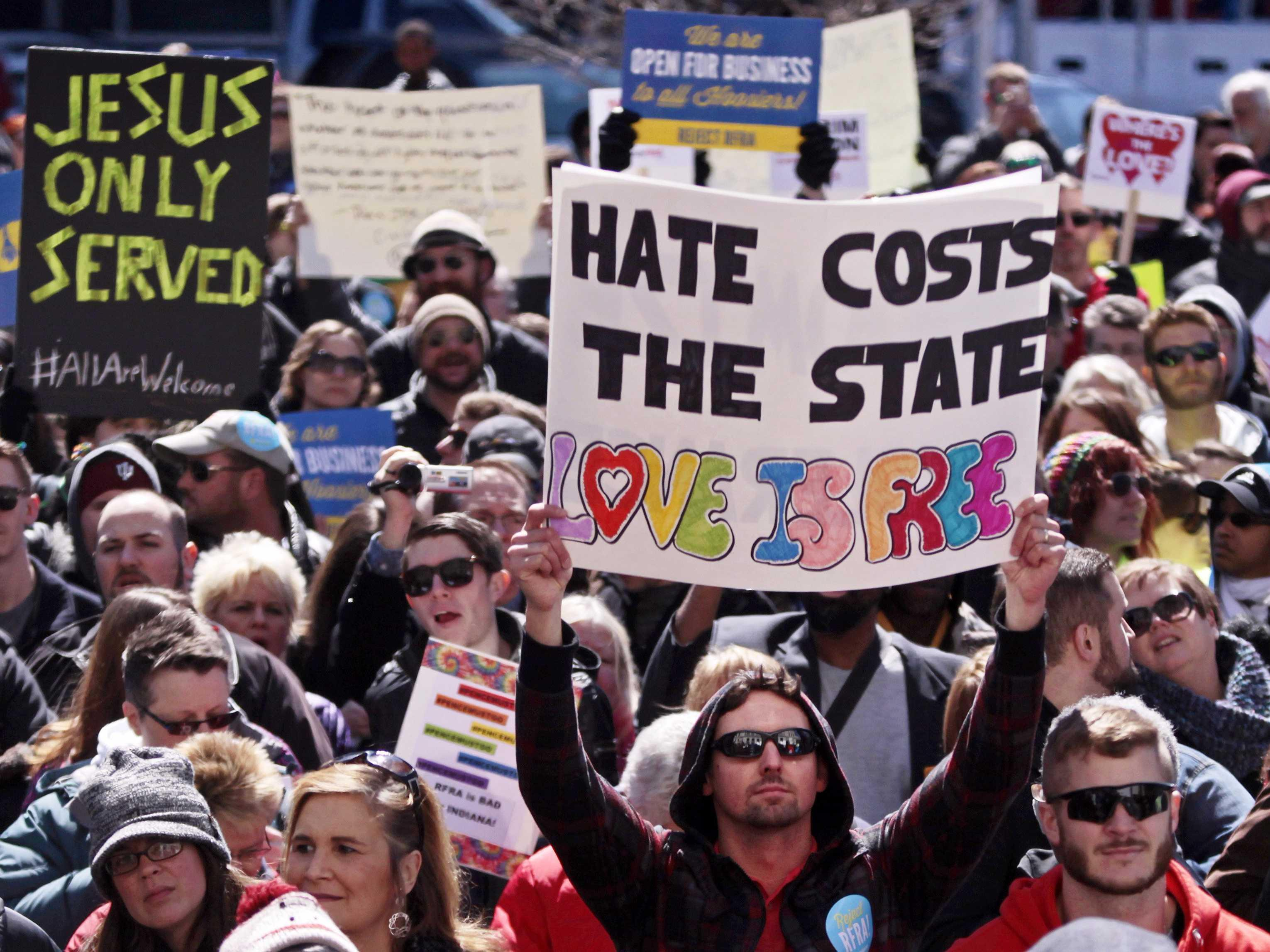 A whole bunch of famous people are shredding Indiana for its 'odious' new 'religious freedom' law