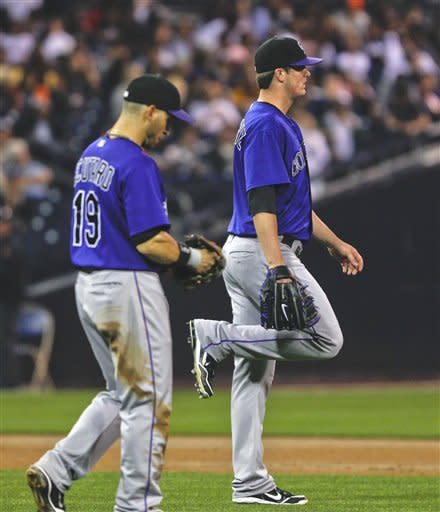Volquez gets 1st win with Padres, 3-2 over Rockies
