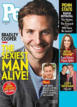 Bradley Cooper is named People's Sexiest Man of the Year.