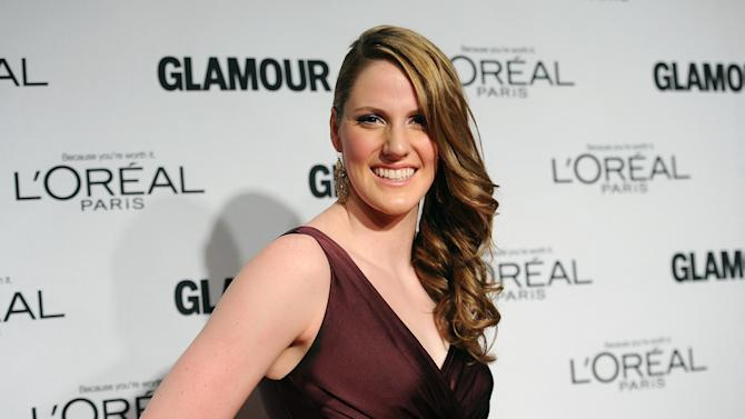 """Olympic gold medal swimmer Missy Franklin attends Glamour Magazine's 22nd annual """"Women of the Year Awards"""" at Carnegie Hall on Monday Nov. 12, 2012 in New York. (Photo by Evan Agostini/Invision/AP)"""