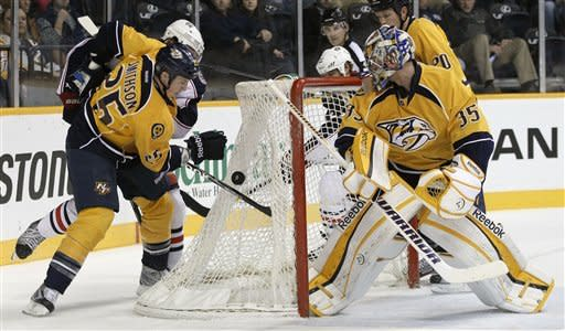 Fisher scores twice, Preds beat Blue Jackets 4-1