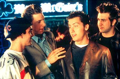 GQ , James Bulliard , Lance Bass and Joey Fatone in Miramax's On The Line