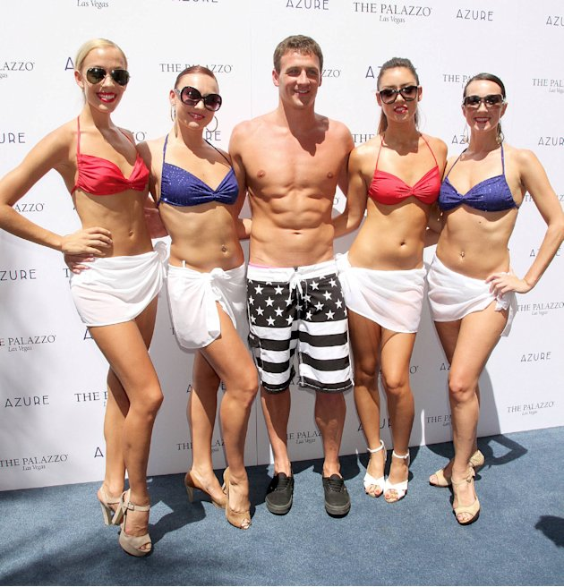 Ryan Lochteswimmer celebrates his Olympic success by hosting a day at Azure Pool inside The Palazzo Resort Hotel & Casino Las Vegas, Nevada - 18.08.12 Credit: (Mandatory): DJDM / WENN.com
