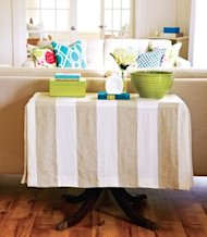 Refresh a tired table with a slipcover