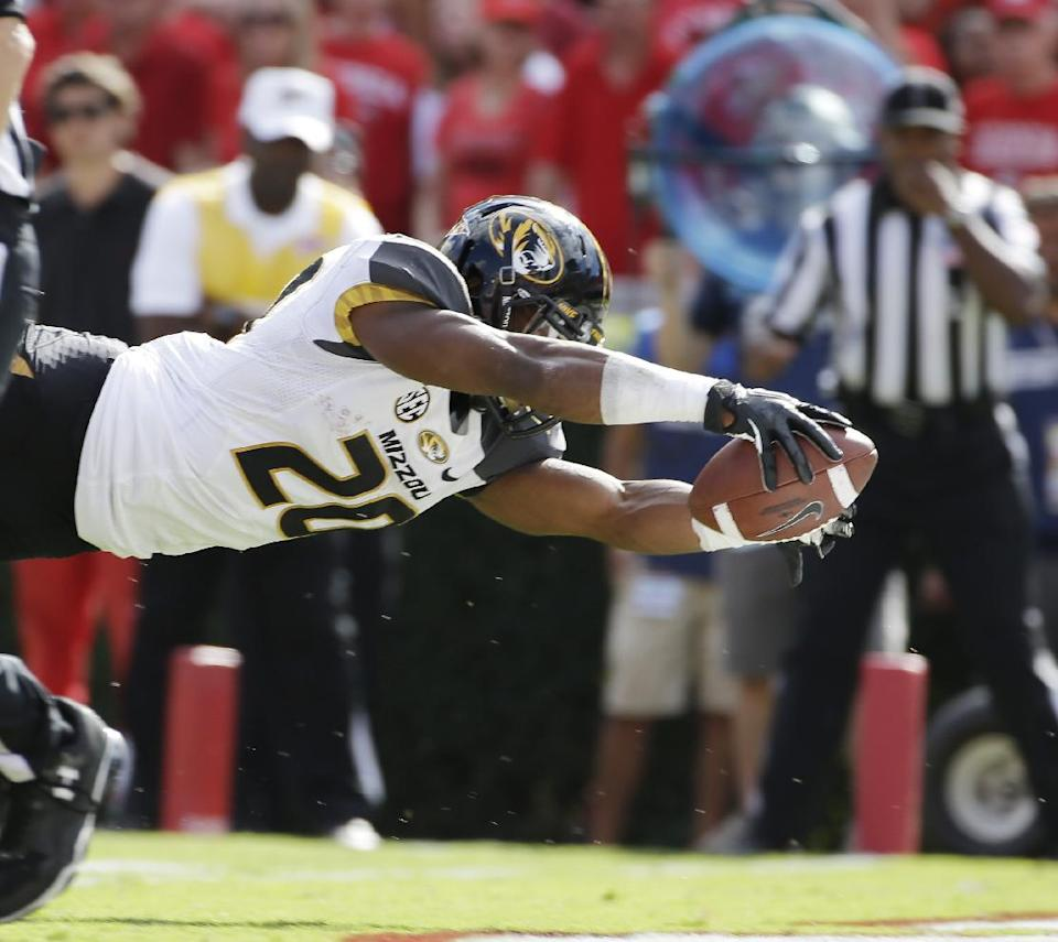 No. 25 Missouri upsets No. 7 Georgia, 41-26