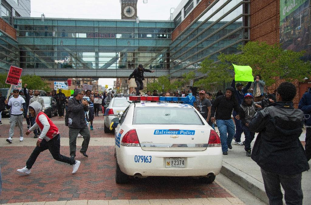 Protesters out again in Baltimore after police custody death