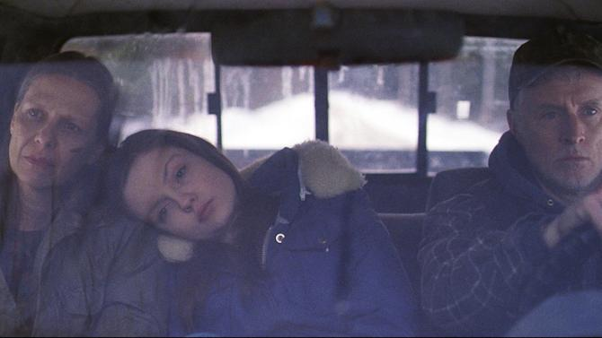 """This film image released by the Tribeca Film Festival shows, from left, Amy Morton, Emily Meade, and John Slattery in a scene from """"Bluebird,"""" a film that will be shown at the Tribeca Film Festival running April 17 through April 28, 2013 in New York. (AP Photo/Tribeca Film Festival, Jody Lee Lipes)"""