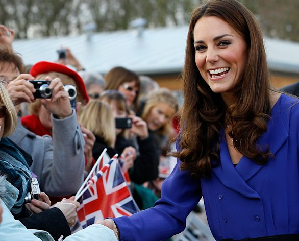 Kate Middleton embarked on her new royal duties in 2012, with appearances at Queen Elizabeth&#39;s Diamond Jubilee and the London Games, although a paparazzi cheap shot really got people&#39;s attention. (Kirsty Wigglesworth/AP Photo)