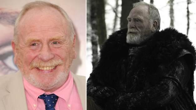 James Cosmo at the Los Angeles 'Game of Thrones' premiere (left) and in 'GOT' Season 2 (right)  -- HBO/Helen Sloan/Getty Images