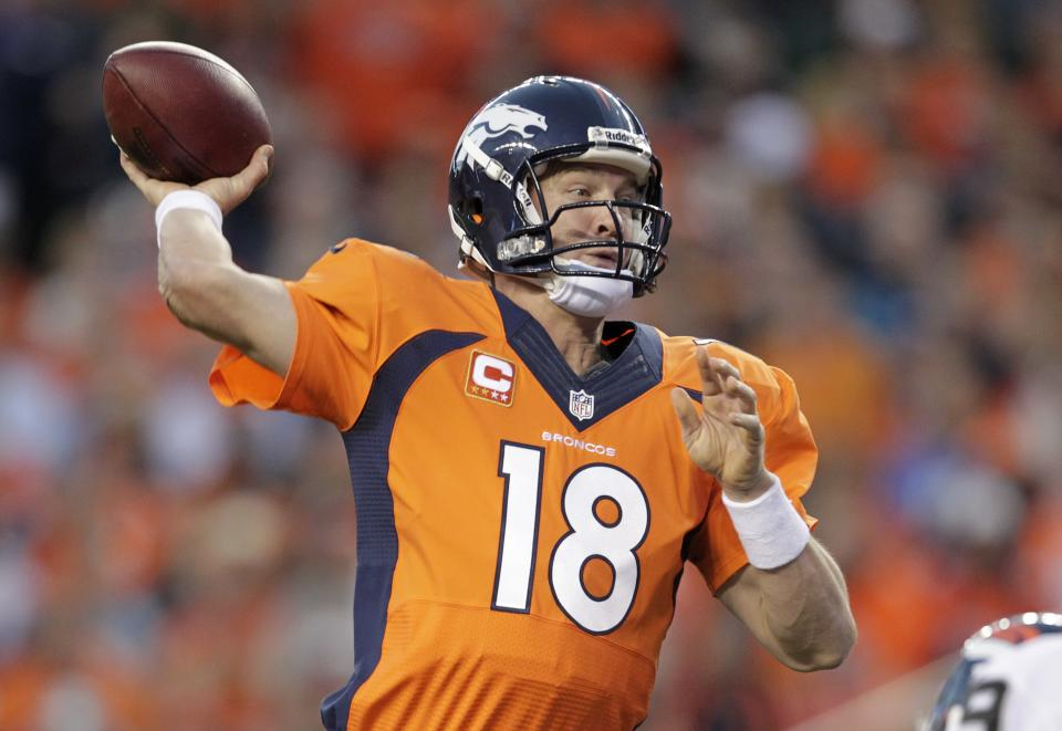 Maybe we're just now seeing Manning in his prime