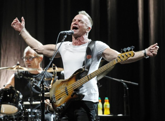 Still looking fit as ever, Sting, 60, will be in Singapore on Dec 13. (Reuters file photo))