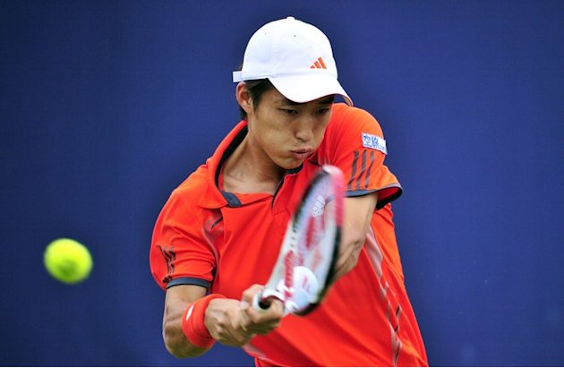 Go Soeda Of Japan Returns AFP/Getty Images