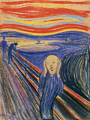"FILE - This undated photo provided by Sotheby's shows ""The Scream"" by Norwegian painter Edvard Munch. The work, which dates from 1895 and is one of four versions of the composition, will lead Sotheby's Impressionist & Modern Art Evening Sale in New York on May 2, 2012. (AP Photo/Sotheby's, File)"