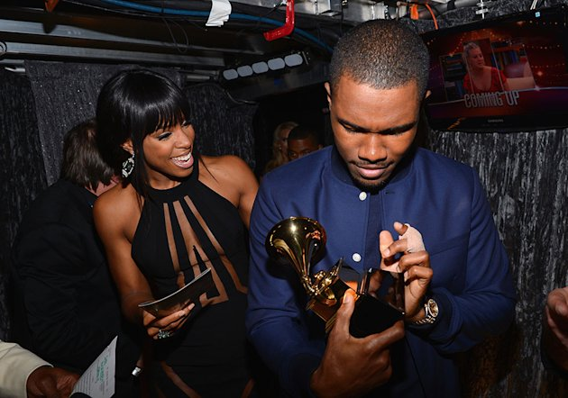 The 55th Annual GRAMMY Awards - Backstage And Audience: Kelly Rowland and Frank Ocean