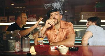 Peter Berg , Ben Affleck and Martin Henderson in Universal Pictures' Smokin' Aces