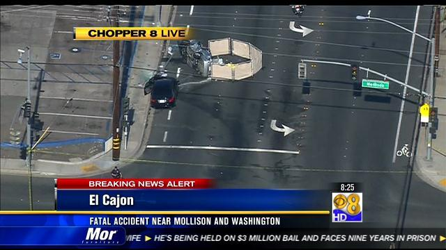 Fatal accident near Mollison and Washington