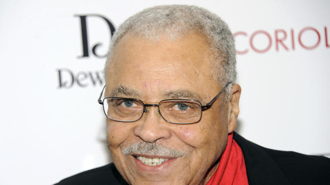 """FILE - This Jan. 17, 2012 file photo shows actor James Earl Jones attending the premiere of """"Coriolanus"""" at the Paris Theater in New York.  Jones has been named the 2012 recipient of the Marian Anderson Award, which honors artists whose leadership benefits humanity. The critically acclaimed stage and screen actor will accept the award at a Nov. 19 gala at the Kimmel Center for the Performing Arts in Philadelphia. (AP Photo/Evan Agostini, file)"""