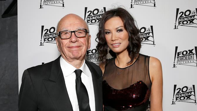 Rupert Murdoch and Wendi Deng Murdoch attend the Twentieth Century Fox And Fox Searchlight Pictures Academy Awards Nominees Party at Lure on Sunday, February 24, 2013 in Los Angeles. (Photo by Todd Williamson/Invision for Fox Searchlight/AP)