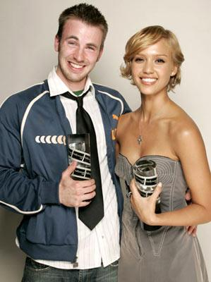 Chris Evans and Jessica Alba Movieline's Hollywood Life 7th Annual Young Hollywood Awards - 5/1/2005