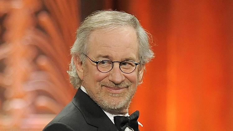 "FILE - This June 7, 2012 file photo shows director Steven Spielberg at the AFI Life Achievement Award Honoring Shirley MacLaine at Sony Studios in Culver City, Calif.  Spielberg has extended his domination at the Directors Guild of America Awards, earning his 11th film nomination Tuesday, Jan. 8, 2013, for his Civil War epic ""Lincoln."" (Photo by Chris Pizzello/Invision/AP, file)"
